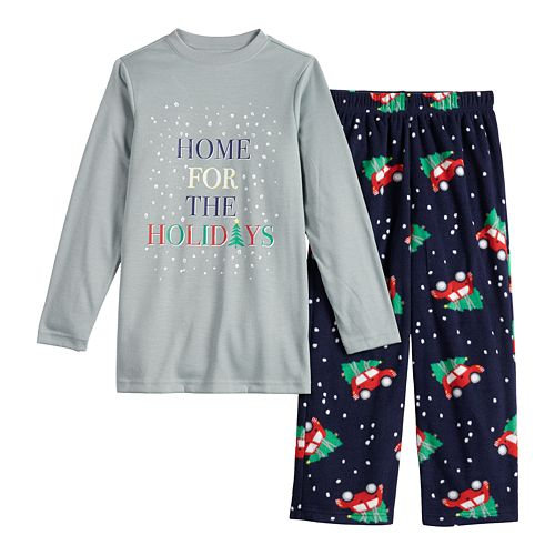 Boys 4-20 Jammies For Your Families® Home For The Holidays Tee & Pants Pajama Set