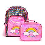 Holographic & Flip Sequins Backpack & Lunch Bag Set