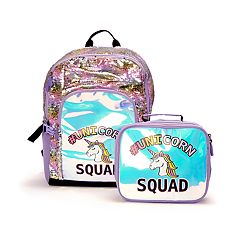 211db6a24 Holographic & Flip Sequins Backpack & Lunch ...