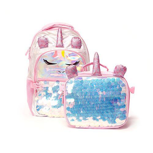 Unicorn Backpack Lunch Bag Set