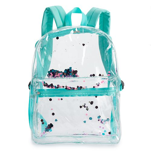 Shaky Sequins Clear Backpack
