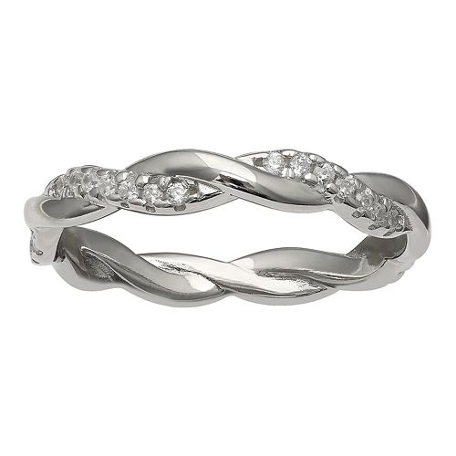 PRIMROSE Sterling Silver Braided Band Ring