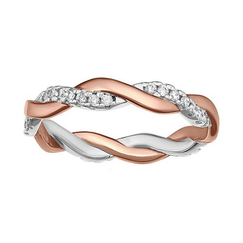 PRIMROSE Sterling Silver Braided Band Ring