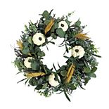 Sonoma Farmhouse Faux Pumpkin Wreath