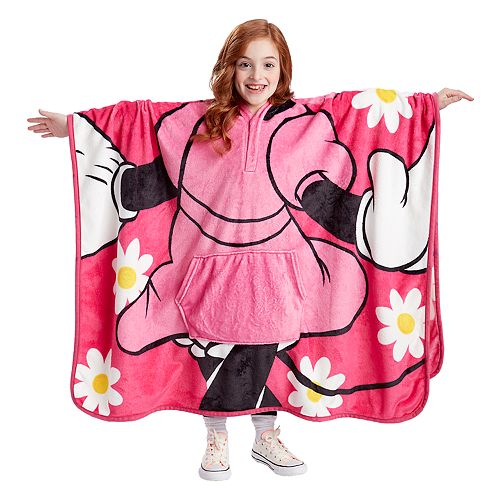 Kids' throwbee Character Poncho-Blanket