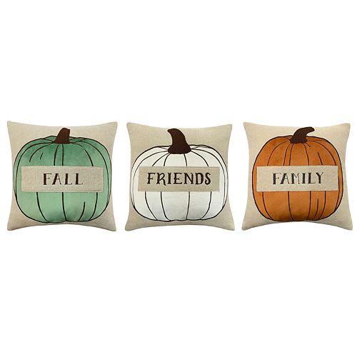 Harvest Pumpkin Pillow 3 Piece Set by Harvard Crimson