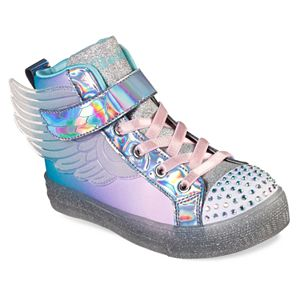 Skechers Twinkle Toes Shuffle Brights Sparkle Wings Girl's Light Up Shoes