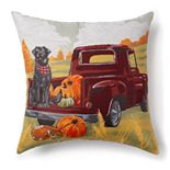 Celebrate Fall Together Harvest Truck Decorative Pillow