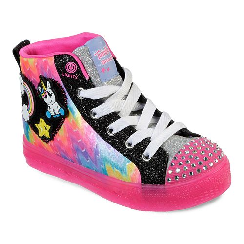 Skechers Twinkle Toes Shuffle Brights Girls' Light Up Shoes