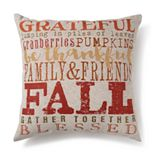 Celebrate Fall Together Words Decorative Pillow