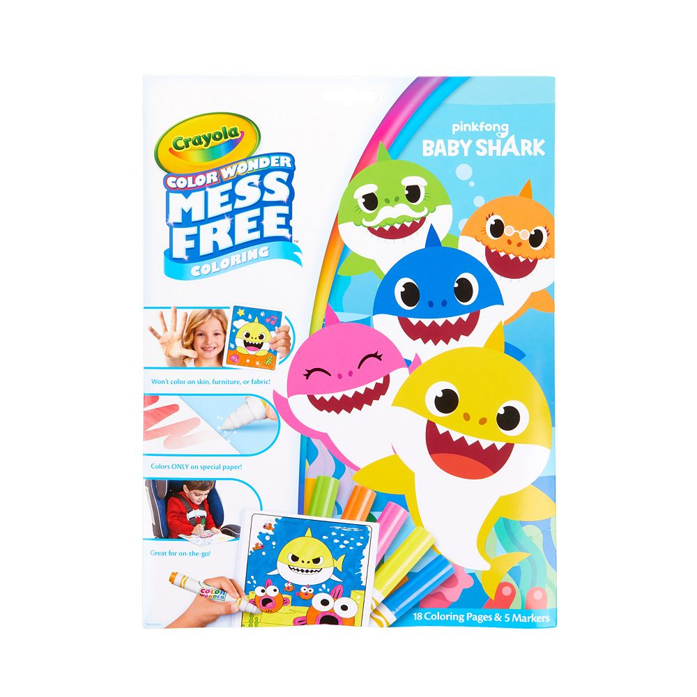 Crayola Color Wonder Baby Shark Mess Free Coloring Pages