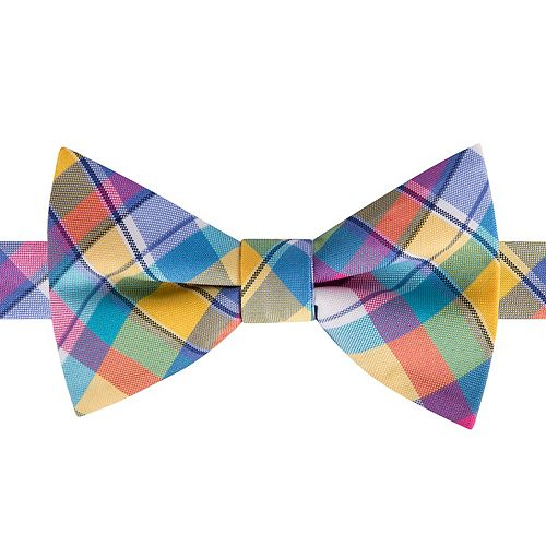 Men's American Traditions Gingham Plaid Pre-Tied Bow Tie