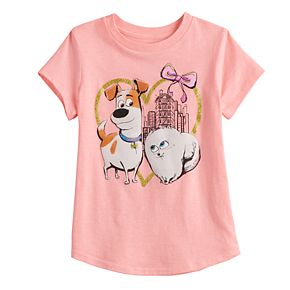 Girls' Jumping Beans Pink Bow Love Tee