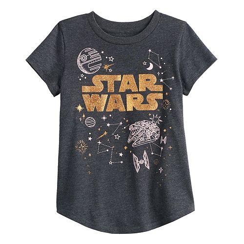 Girls' Jumping Beans Star Wars Space Tee