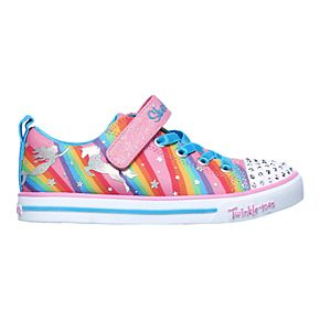 Skechers Twinkle Toes Shuffles Magical Rainbows Girls' Light Up Shoes