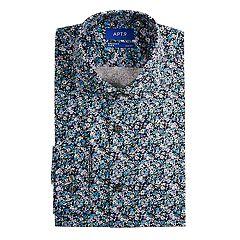 Men's Apt. 9® Premier Flex Slim-Fit Cut-Away Collar Dress Shirt