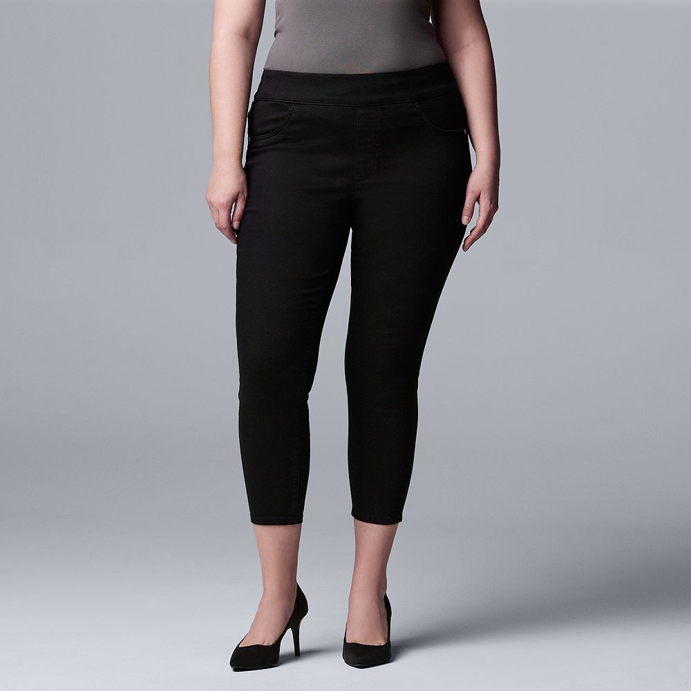 Plus Size Simply Vera Vera Wang Jegging Capri Pants