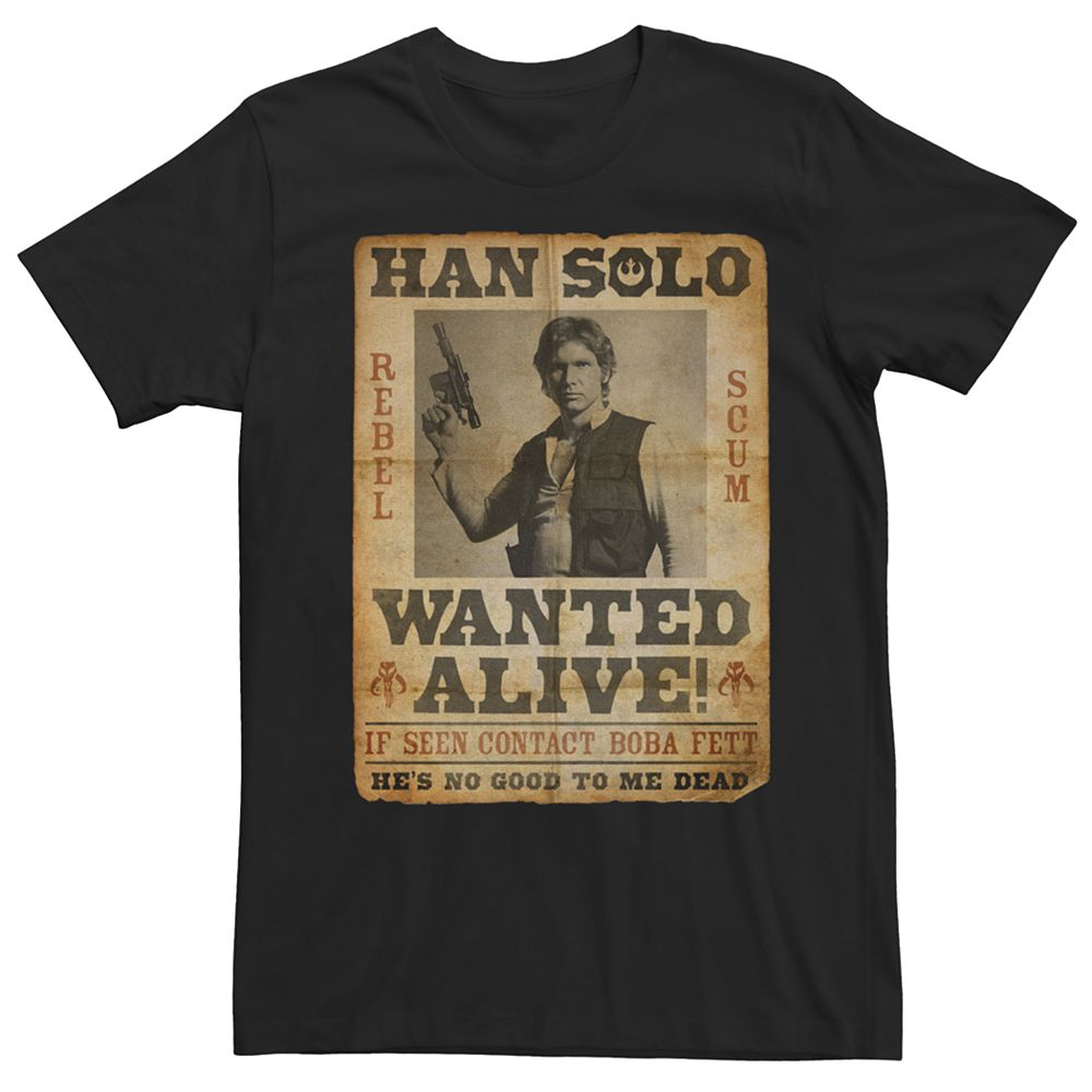 Men's Star Wars Han Solo Wanted Tee