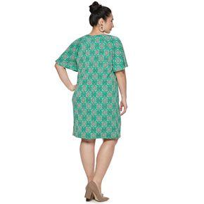 Plus Size Dana Buchman Raglan Shift Dress