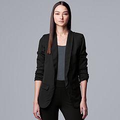 fea55b75ca2 Petite Simply Vera Vera Wang Slouch Sleeve Blazer. Black Nine Iron