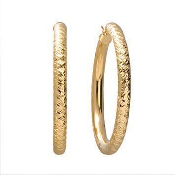 18k Gold-Over-Silver Hoop Earrings