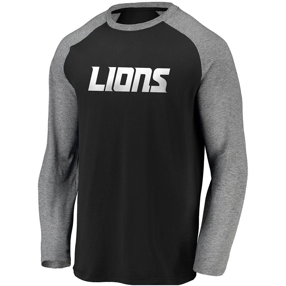 Men's Detroit Lions Raglan Long Sleeve Tee