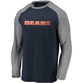 Men's Chicago Bears Raglan Long Sleeve Tee