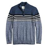 Boys 8-20 & Husky Urban Pipeline? 1/4 Zip Mock Stripe Pullover Sweater
