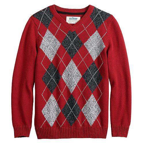 Boys 8-20 Urban Pipeline™ Argyle Christmas Sweater in Regular & Husky