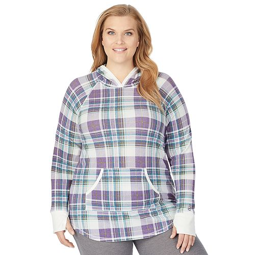 Plus Size Cuddl Duds® Stretch Thermal Long Sleeve Hoodie Tunic