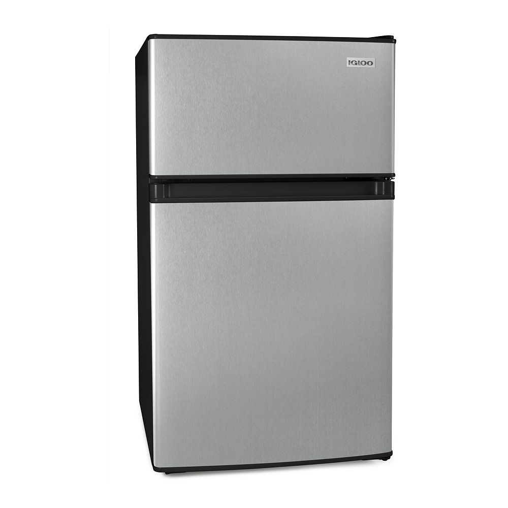 Igloo 3.1 Cu. Ft. Stainless Steel Refrigerator and Freezer