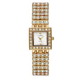 Jacques Laurent Women's Crystal Accent Watch