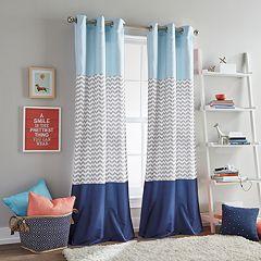Dream Factory Chevron Color Block Window Curtain