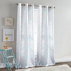 Dream Factory 2-pack Ryder Paisley Window Curtain Set