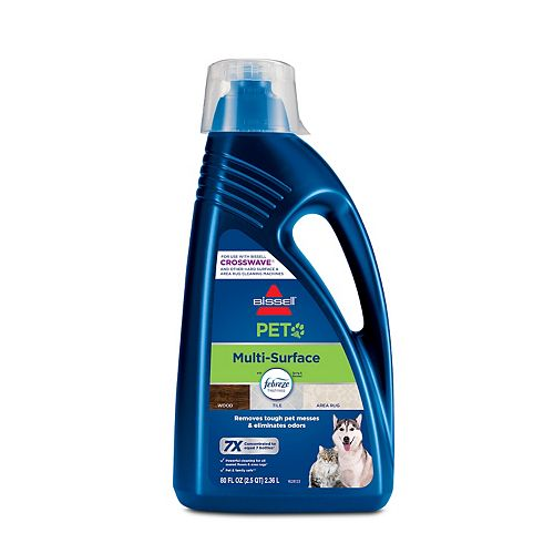 BISSELL Multi-Surface Pet Floor Cleaning Formula for CrossWave & SpinWave Series - 80 oz.