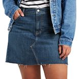 Plus Size Levi's® Raw Edge Jean Skirt