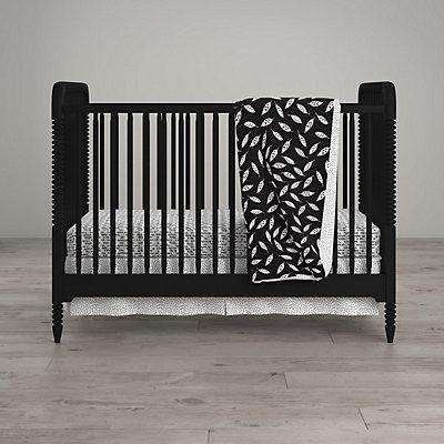 Little Seeds Feather Print 4-Piece Crib & Toddler Bedding Set