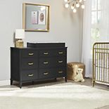 Little Seeds Black Monarch Hill Hawken 6-Drawer Changing Table