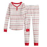 Girls 4-16 LC Lauren Conrad Jammies For Your Families Fairisle Top & Bottoms Pajama Set
