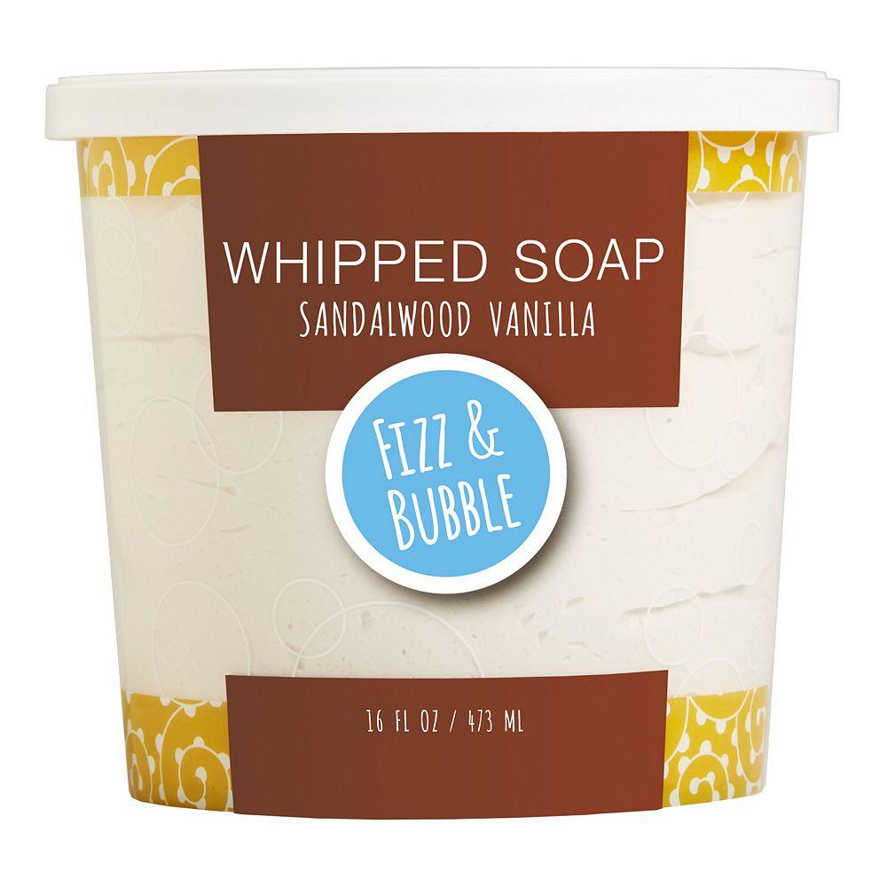 Fizz & Bubble Sandalwood Vanilla Whipped Soap