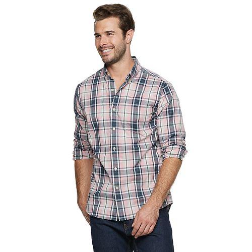 Men's SONOMA Goods for Life™ Slim-Fit Stretch Poplin Button-Down Shirt
