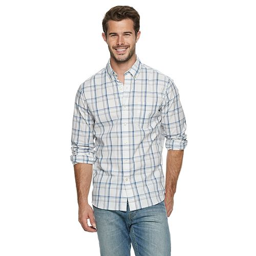 Men's SONOMA Goods for Life® Slim-Fit Stretch Poplin Button-Down Shirt
