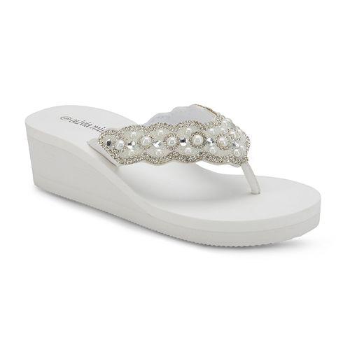 Olivia Miller 'Best Life' Women's Wedge Sandals