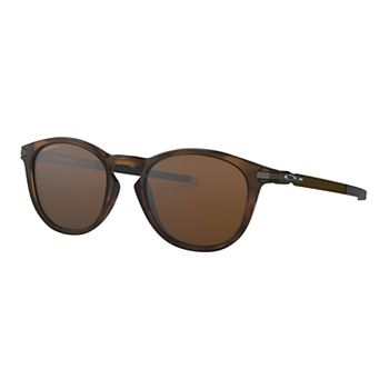 Oakley Pitchman OO9439 50mm Round Mirrored Polarized Sunglasses