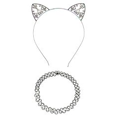 Women's SO® Butterfly Cat Ear Headband with Tattoo Choker