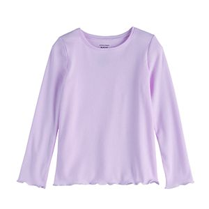 Girls 4-12 Jumping Beans® Lettuce-Edge Rib Tee