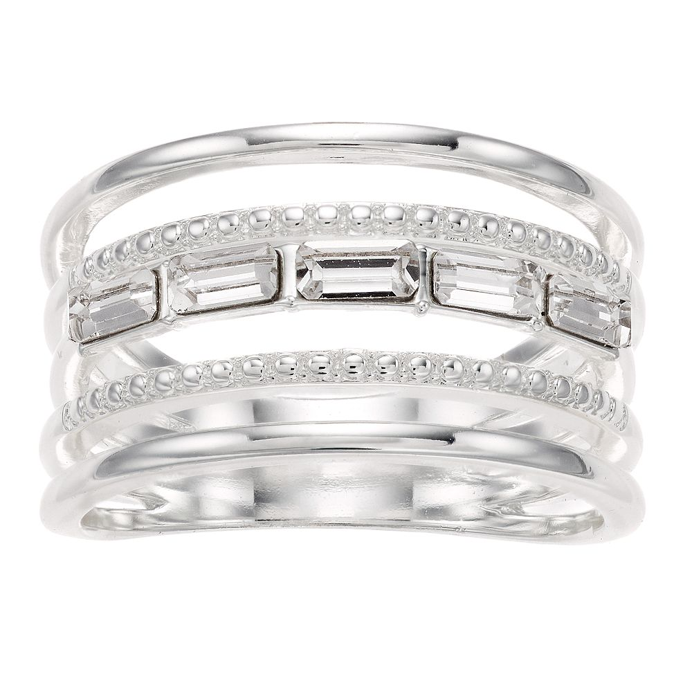 Brilliance 5-Band Ring with Swarovski Crystals