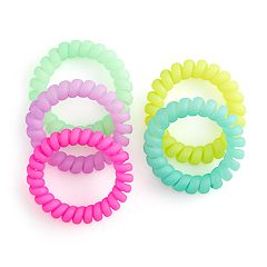 Women's SO® 6-Pack Rainbow Phone-Cord Ponytail Holders