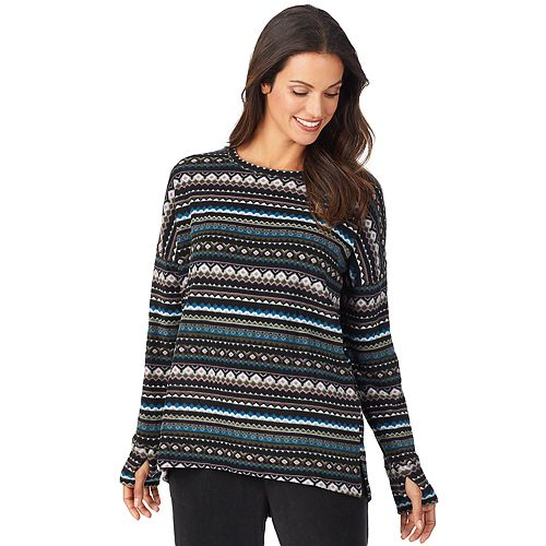 Women's Cuddl Duds® Fleecewear with Stretch Long Sleeve Pullover