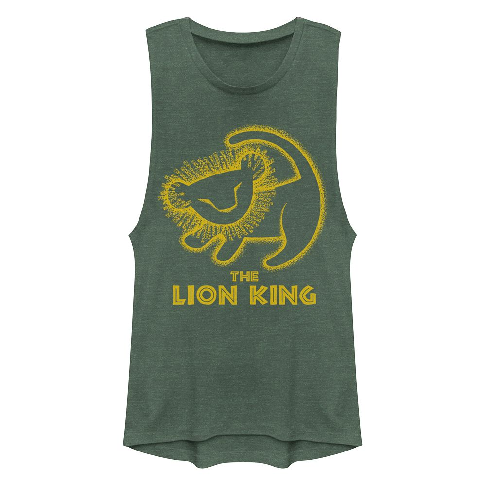 Juniors' Disney's The Lion King Simba Painting Muscle Tank Top